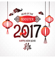 Chinese 2017 new year greeting card vector image
