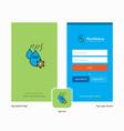 company water control splash screen and login vector image