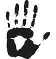 concept human hand or handprint symbol kid vector image