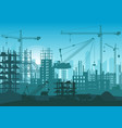 construction skyline under construction web site vector image vector image