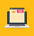 content is king marketing concept on a laptop vector image