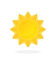 cute sun with triangular rays vector image