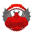 Dreaded Scary Satan logo for a sports team or vector image