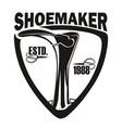 emblem shoemaker 1988 vector image vector image