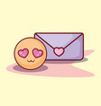 emoticon message love romance online dating vector image vector image
