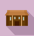 farm asia house icon flat style vector image vector image
