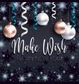 festive black banner xmas greetings make wish vector image vector image