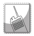 figure police radio icon image vector image