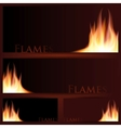 fire frames on black background vector image