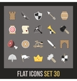 Flat icons set 30 vector image