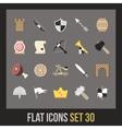 flat icons set 30 vector image