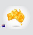 geometric polygonal style map of australia low vector image