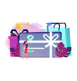 gift card concept vector image