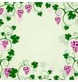 Grape vines background frame vector image vector image
