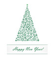 green snowflake christmas tree isolated on the vector image vector image