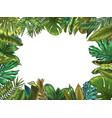 green tropical leaves frame nature leaf border vector image