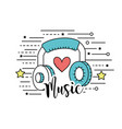 headphones to listen and play music vector image vector image
