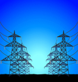 High-voltage power towers background vector image vector image