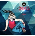 Hipster background Year of the goat Geometric vector image vector image