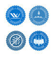 icons set of fabric features wind proof vector image