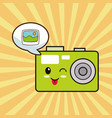 Kawaii photo camera comic vector image