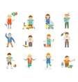 Kids Playing Set vector image vector image