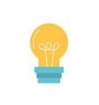 light bulb power electric energy vector image vector image