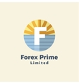 Logo for Forex companies style paradise by sea vector image vector image