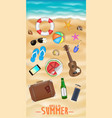 men beach travel object on a sea sand beach vector image vector image