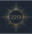 modern happy new year 2019 vector image