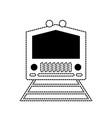 monochromatic train illastr vector image