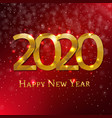 new year card with snowflake vector image vector image
