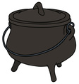 Old iron kettle vector image vector image