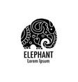 ornate elephant design vector image vector image