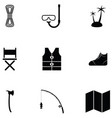 outdoor icon set vector image