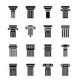 pillar drawings icons vector image vector image
