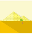 pyramids icon set of great flat icons design vector image