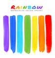 Rainbow Watercolor Brush Smears vector image