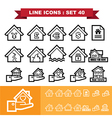 Real Estate line icons set 40 vector image
