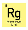 roentgenium chemical symbol vector image vector image