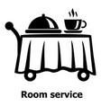room service icon simple black style vector image vector image