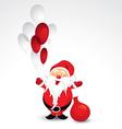 santa claus and balloons vector image vector image