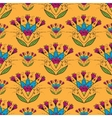 Seamless pattern with Indian stylization lotus vector image vector image