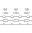 seamless texture ropes with knots knots vector image