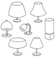 set of lamp vector image