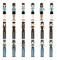 Set of police women vector image