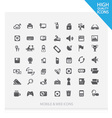 set web and mobile icons 2 vector image vector image