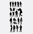 soldier people activity silhouettes vector image vector image