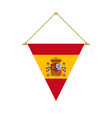 spanish triangle flag hanging vector image