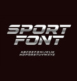 sport font with chrome texture trendy letters vector image